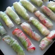 Spring rolls na surowo