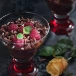 Krem czekoladowy z malinami i chili