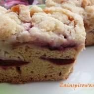 Ciasto ucierane ze śliwkami i jabłkami