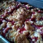 Ciasto ze śliwkami (lub innymi owocami) oprószone kruszonką