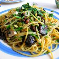 Spaghetti pietruszkowo-grzybowe