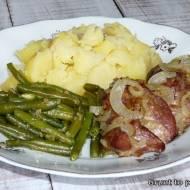 Wątróbka z cebulką, czyli obiad wykonany telefonem, siłą woli i Panem Mężem