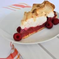 Raspberry meringue pie, czyli tarta z kremem malinowym i bezą