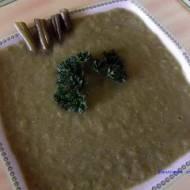 Zupa krem z fasolki zielonej