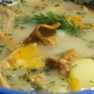 Zupa z kurkami i mleczkiem kokosowym