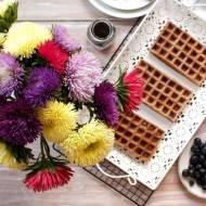 Gofry czekoladowe - pomysł na śniadanie