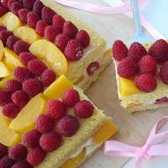 Malinowo- brzoskwiniowy Naked Cake