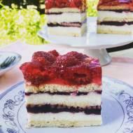 Ciasto grysikowe z malinami