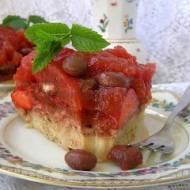 smaczny miętowo truskawkowy deser...
