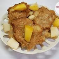 Kokosowo-orkiszowe racuchy z jabłkami