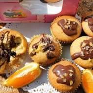 Babeczki pomarańczowe z czekoladą