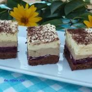 Ciasto wiśniowo-kawowo-alkoholowe (z advocatem) na 2 urodziny bloga