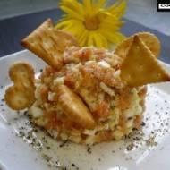 Imprezowa pasta łososiowo - serowa