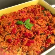 Pieczona kasza jaglana z warzywami