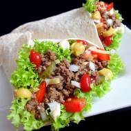 Tortilla z Mięsem Wołowym (Tortilla a'la Hamburger)