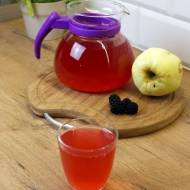 Domowy kompot z jabłek i jeżyn z miętą