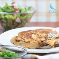 Omlet z mąki cieciorkowej z kurkami, czyli Tortilla de Chantarela