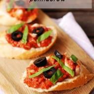 Pasta z pieczonej ryby, papryki i suszonych pomidorów