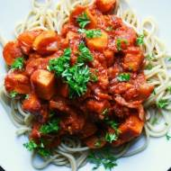 Słodkie spaghetti z batatem
