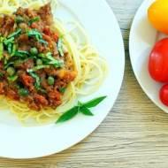 Spaghetti z soczewicą i kaparami
