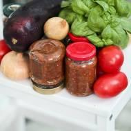 Sos pomidorowy z bakłażanem do słoików