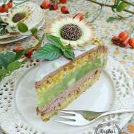 Tort pistacjowo-jabłkowo czekoladowy