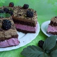 Torcik czekoladowo-jeżynowy