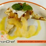 Filet z kurczaka z gruszką i kozim serem