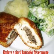 Kotlety z piersi kurczaka faszerowane pieczarkami i serem wg Aleex