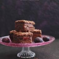 Ciasto czekoladowe z budyniem i śliwkami (Bezglutenowe)