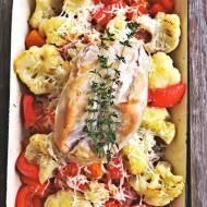 Warzywa z piekarnika z piersią kurczaka wolno gotowaną Lidl