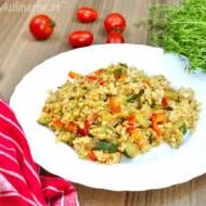 Kasza owsiana z warzywami – obiad wegański i fit (450 kcal)