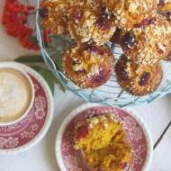 Muffiny dyniowe z malinami i kruszonką :)