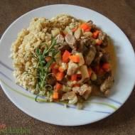 Pyszna potrawka z ryżem z kalafiora