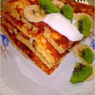 Owsiano ryżowy omlet z owocami