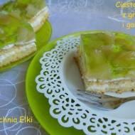 Ciasto migdałowe z gruszkami i galaretką