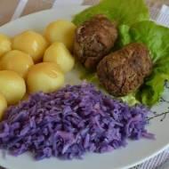 Śląski obiad czyli rolada, kluski i modro kapusta