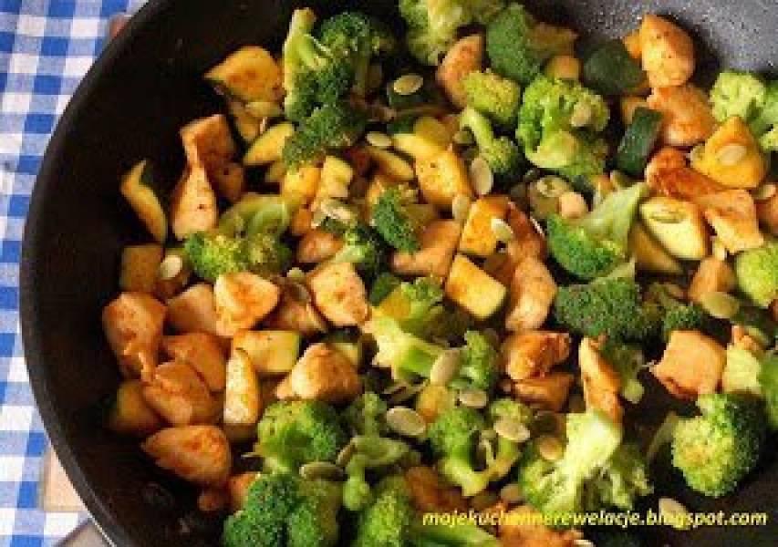 Przepis Na Dietetyczny Kurczak Z Brokulem I Cukinia Moje Kuchenne
