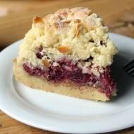 Ciasto na niedzielę szybkie i łatwe #8 Migdałowa kruszonka z wiśniami