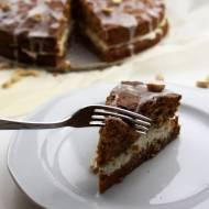 Ciasto marchewkowe z serkiem mascarpone z orzeszkami ziemnymi