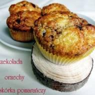 Muffiny z czekoladowo-orzechowym wnętrzem