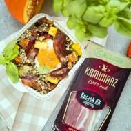 Przepis na kolacje: Kasza z warzywami i boczkiem