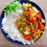 Tajskie, czerwone curry z kurczakiem