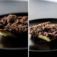 czekoladowe curumble z gruszką
