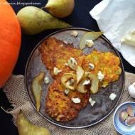 Dyniowe placki z czosnkową gruszką i serem blue