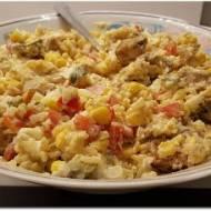 Sałatka z kurczakiem i ryżem Basmati