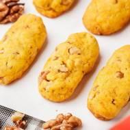 Ciasteczka dyniowe z orzechami