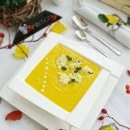 Krem kukurydziano-dyniowy z marchewką i kluseczkami serowymi