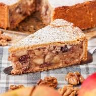 Zakryty tort wiedeński (jabłecznik z orzechami i rodzynkami)
