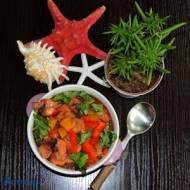 Kałamarnica w warzywach
